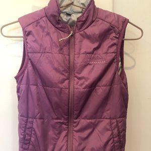 Kids insulated purple Kathmandu zip puffer vest